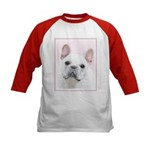 French Bulldog (Cream/White) Kids Baseball Jersey