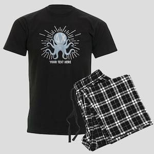 Delta Chi Octopus Personalized Men's Dark Pajamas