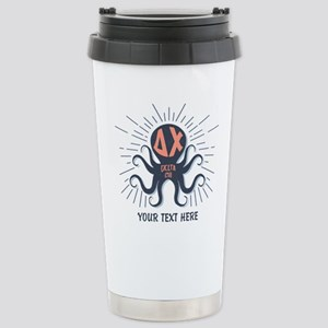 Delta Chi Octopus 16 oz Stainless Steel Travel Mug
