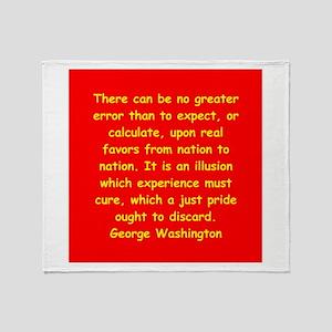 george washington Throw Blanket