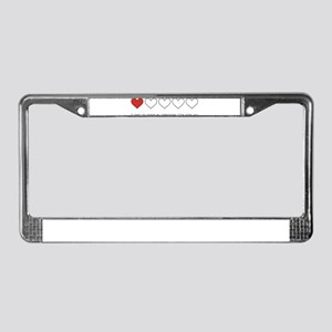 Spend My Remaining Life With License Plate Frame