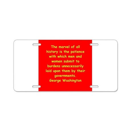 george washington Aluminum License Plate