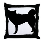 Siberian Husky Silhouette Throw Pillow