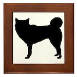 Siberian Husky Silhouette Framed Tile
