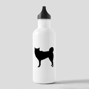 Siberian Husky Silhouette Stainless Water Bottle 1