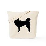 Siberian Husky Silhouette Tote Bag