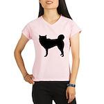 Siberian Husky Silhouette Performance Dry T-Shirt