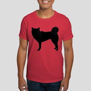 Siberian Husky Silhouette Dark T-Shirt