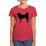 Siberian Husky Silhouette Women's Dark T-Shirt