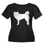 Siberian Husky Silhouette Women's Plus Size Scoop