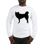 Siberian Husky Silhouette Long Sleeve T-Shirt