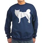 Siberian Husky Silhouette Sweatshirt (dark)
