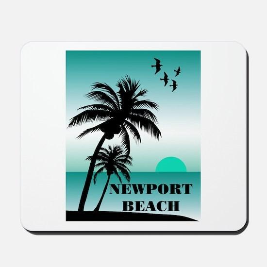 Newport Beach Sunset Mousepad