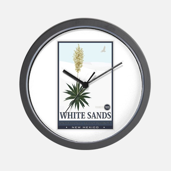 National Parks - White Sands 2 1 Wall Clock