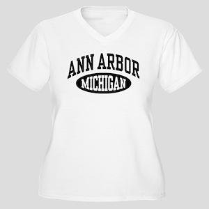 Ann Arbor Michigan Women's Plus Size V-Neck T-Shir