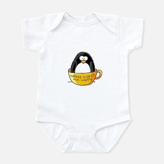 Coffee penguin Infant Creeper