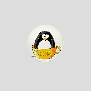 Coffee penguin Mini Button