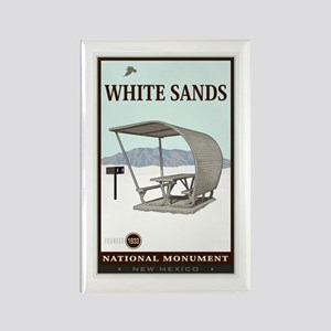 National Parks - White Sands 4 Rectangle Magnet
