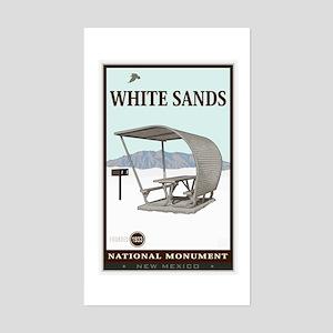 National Parks - White Sands 4 Sticker (Rectangle)