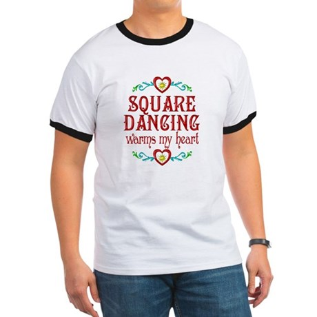 Square Dancing Heart Ringer T