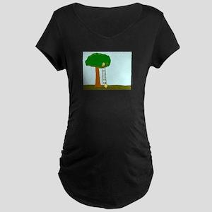 Imitating Bird Maternity Dark T-Shirt