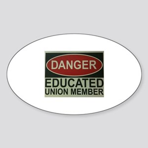 Danger! Sticker (Oval)