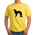 Irish Setter Silhouette Yellow T-Shirt