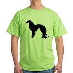 Irish Setter Silhouette Green T-Shirt