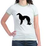 Irish Setter Silhouette Jr. Ringer T-Shirt