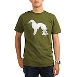 Irish Setter Silhouette Organic Men's T-Shirt (dar