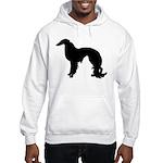 Irish Setter Silhouette Hooded Sweatshirt