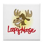 Loopy Moose Tile Coaster