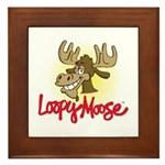 Loopy Moose Framed Tile
