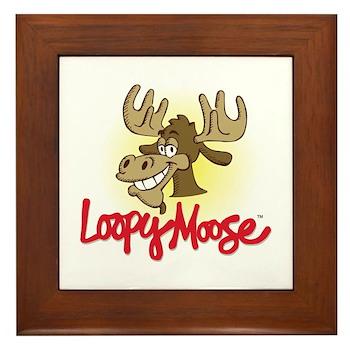 Loopy Moose Framed Tile