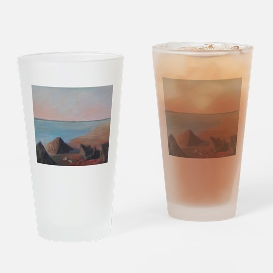 EARLY MORNING ON VILANO BEACH Drinking Glass