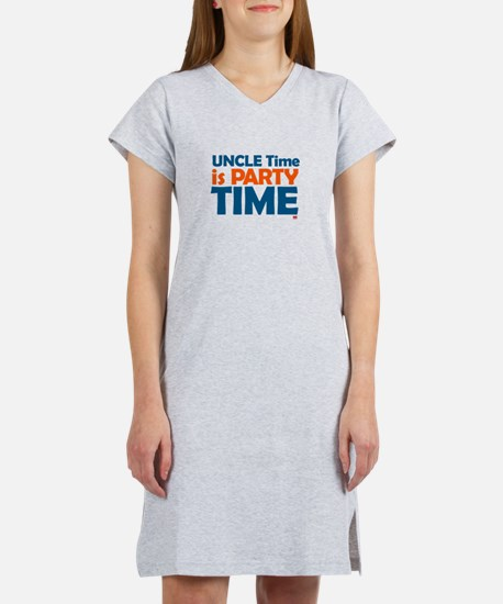 Uncle Time is Party Time Women's Nightshirt