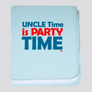 Uncle Time is Party Time baby blanket