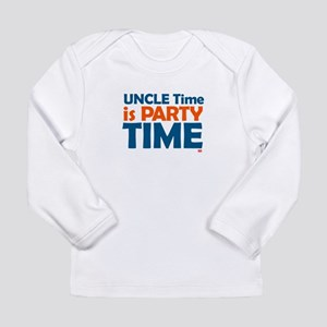 Uncle Time is Party Time Long Sleeve Infant T-Shir