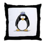Princess penguin Throw Pillow