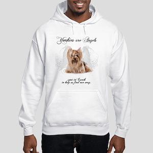 Angel Yorkie Hooded Sweatshirt
