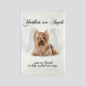 Angel Yorkie Rectangle Magnet