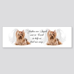 Angel Yorkie Sticker (Bumper)