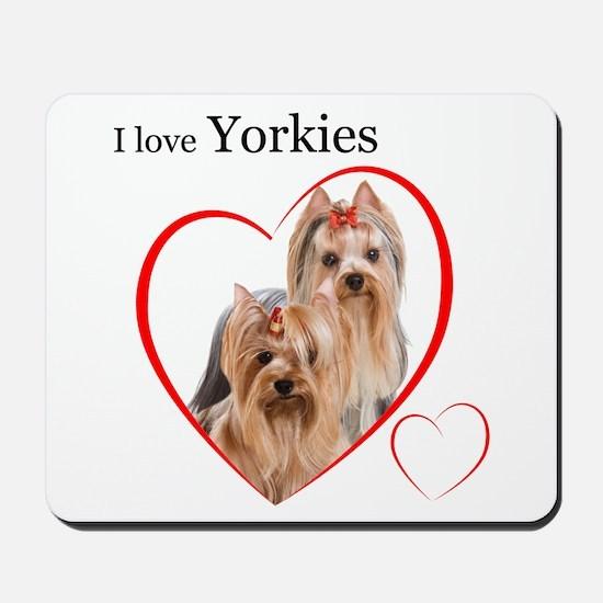Yorkie Love Mousepad