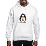 Bad Tie penguin Hooded Sweatshirt