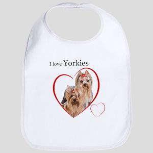 Yorkie Love Bib