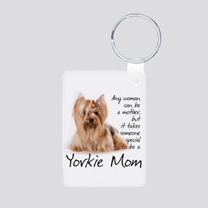 Yorkie Mom Aluminum Photo Keychain
