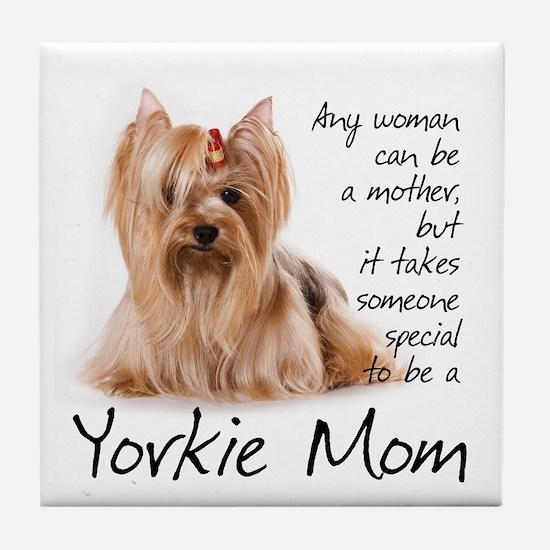 Yorkie Mom Tile Coaster