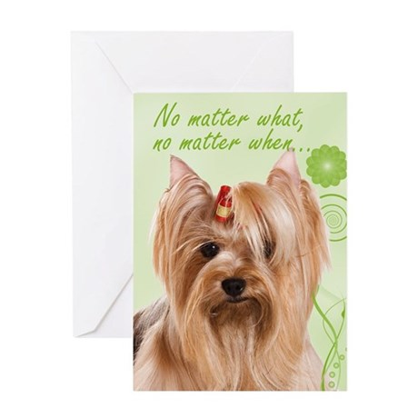 Yorkie Love/Support Card