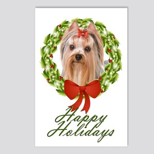 Yorkie Holiday Postcards (Package of 8)