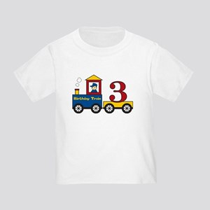 3 Year Old Birthday Train Toddler T-Shirt